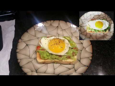 Avocado toast with a Sunny Side Up Egg