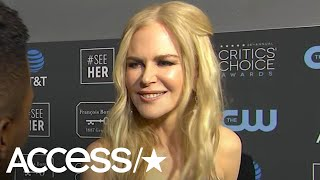 Nicole Kidman On That Awkward Golden Globes Moment With Rami Malek: 'I Love Him!' | Access