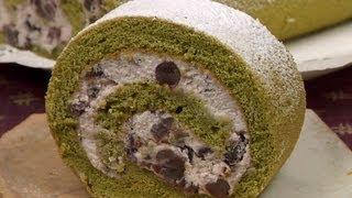 Matcha Roll Cake (Swiss Roll) 抹茶ロールケーキ 作り方レシピ