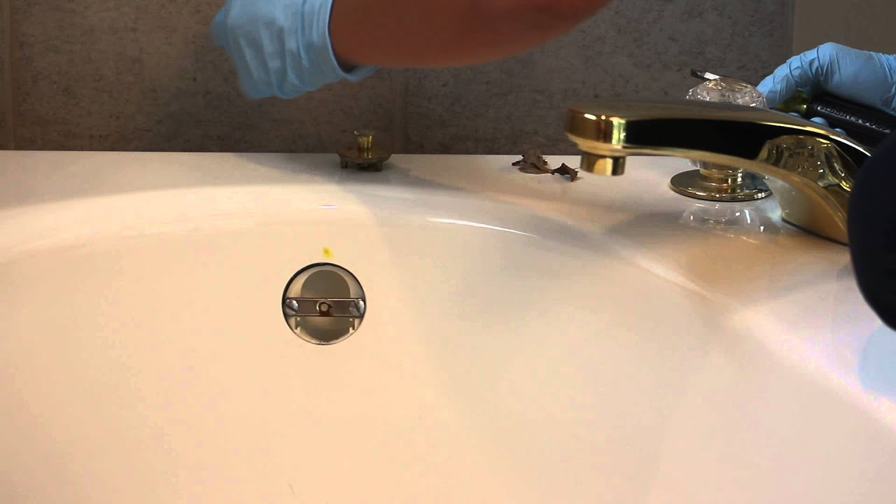Plumber taking bathtub overflow cover off - HD Stock Footage - YouTube