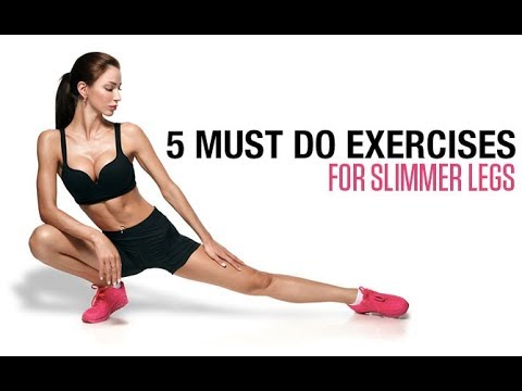 5 MUST DO Exercises to Slim Your Legs (LEANER STRONGER THIGHS!!)