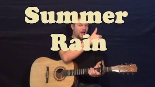 Summer Rain (Johnny Rivers) Easy Chord Strum How to Play Tutorial with Licks