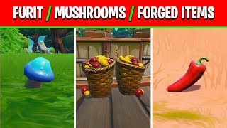 Consume fruit, mushrooms, or glitched foraged items in a single match - Fortnite Week 5 Season 10
