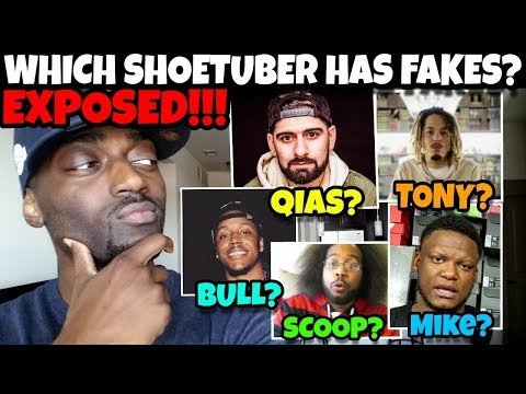 Which ShoeTuber Has FAKE SHOES? Qias Omar, TonyD2Wild, Bull1trc, Scoop208, Mike Rich?? EXPOSED!!!