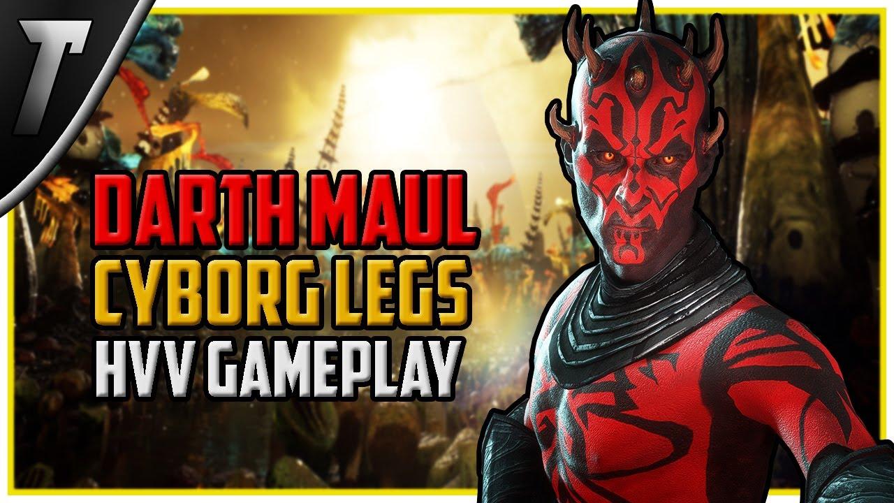 Star Wars Battlefront 2 Cyborg Legs Maul Heroes vs Villains Gameplay (Felucia)