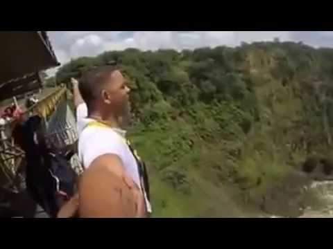 Will Smith Bungee Jumping at  Victoria Falls Bridge, Zimbabwe, Zambia