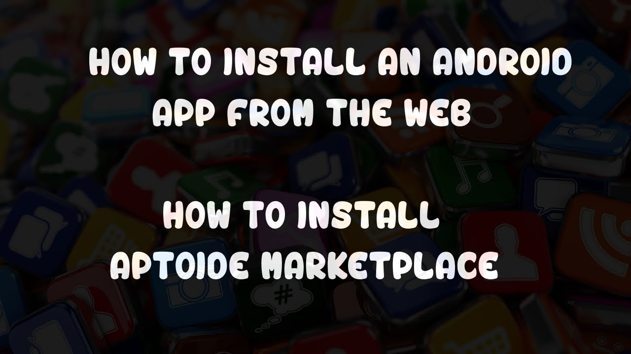 How to Install Aptoide an Android apk app from the Web  #Smartphone #Android