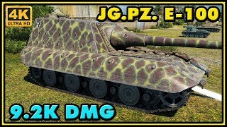 World of Tanks | Jagdpanzer E-100 - 8 Kills - 9,2K Damage - 1 VS 4 Gameplay