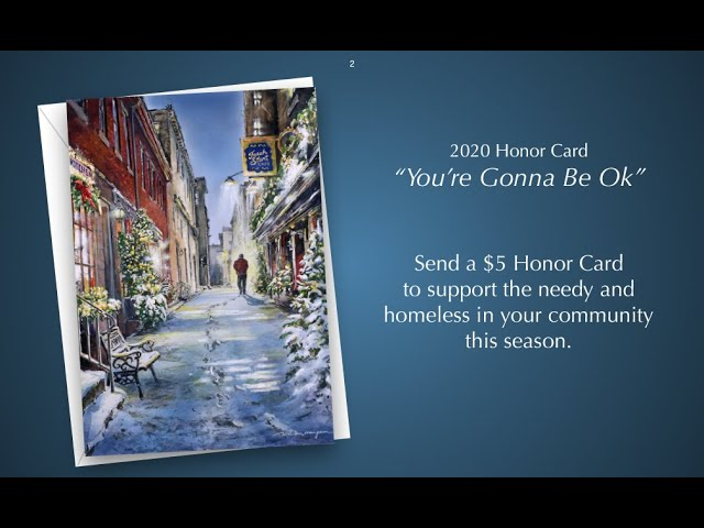"""""""You're Gonna Be Ok""""   -  2020 Honor Card"""