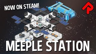 MEEPLE STATION gameplay: RimWorld-Inspired Space Station Sim Hits Steam! | ALPHA SOUP