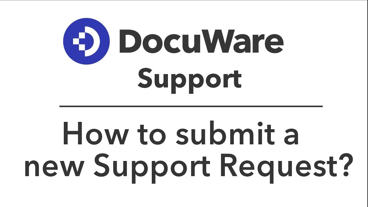 Home · DocuWare Support Portal