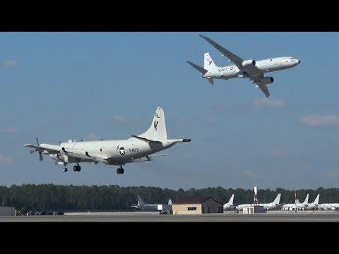U.S.NAVY P-8 & P-3 Demo ! NAS JAX Air Show 2017