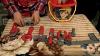 Детский набор инструментов. Строительные детские инструменты(Инструменты детские для мальчиков. Детский набор инструментов с ведром. Строительные детские инструменты..., 2015-12-19T21:00:47.000Z)