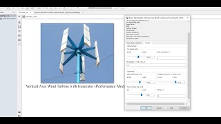 Vertical Axis Wind Turbine | Performance Model | Matlab | Simulink Model