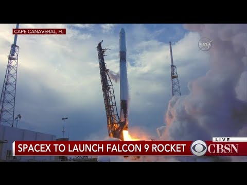 SpaceX launches Falcon 9 rocket with space station cargo