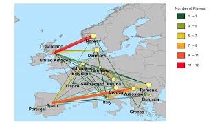 Network Plot on Map