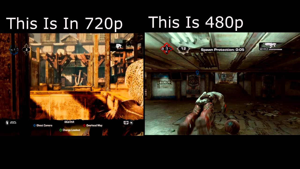 Gears 720p to 480p Comparison (With COM)
