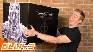 SERIOUSLY SCARY!! Shadow of War Mithril Edition Unboxing! (unreal)