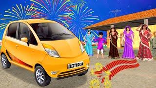 Electric Car Funny Video   Hindi Kahaniya  Bedtime Stories Fairy Tales