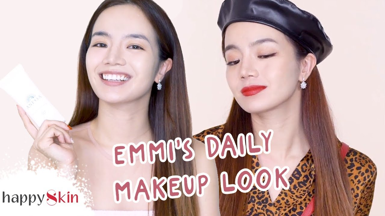 Cách Make Up Hàng Ngày Không Làm Hỏng Da!   EMMI'S EVERYDAY MAKEUP   Happy Skin