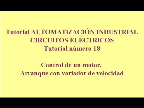 Tutorial18. Automatización industrial. Control de un motor con variador de velocidad.