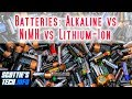 Batteries: Alkaline vs NiMH vs Lithium-ion