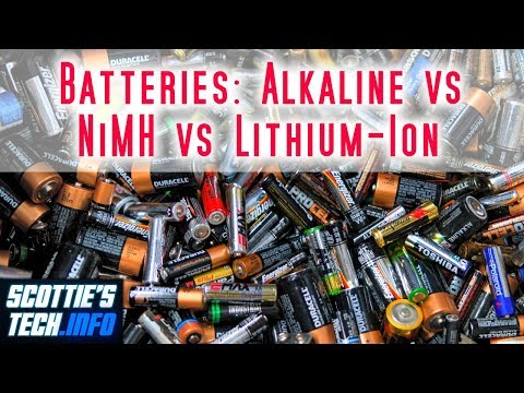 Batteries: Alkaline Vs NiMH Vs Lithium-ion