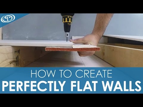 How to Create Perfectly Flat Walls - Installing Buttboard™