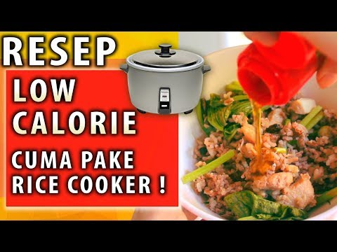 resep-diet---nasi-tim-ayam-jamur---resep-rice-cooker