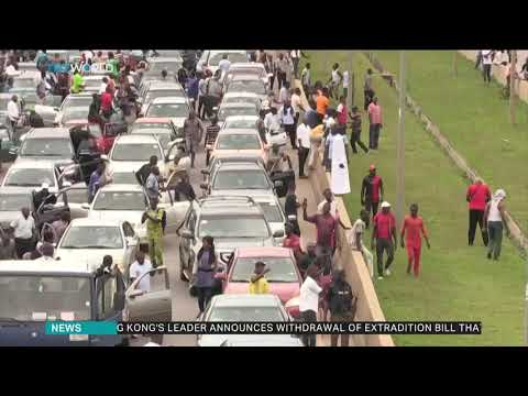 Protests in Nigeria over South Africa xenophobic attacks