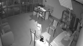 Sakar hırsız güvenlik kamerasından yakalandı