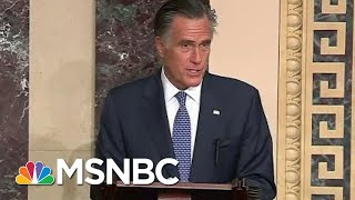 Mitt Romney Breaks With GOP, Will Vote To Convict President Donald Trump | Velshi & Ruhle | MSNBC