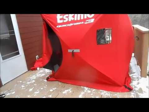 Eskimo Ice House [Review] Quick Fish 3 Pop Up Ice Shelter