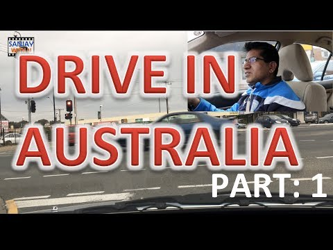CAR DRIVING IN AUSTRALIA 1 [Hindi]