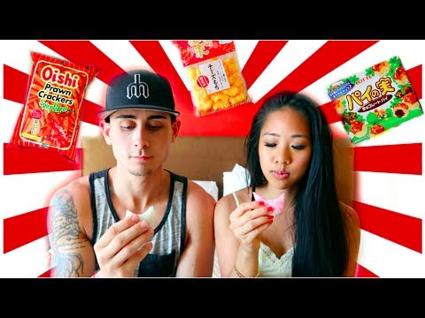Download COUPLE TRYING JAPANESE SNACKS & CANDY! | Selena Lim