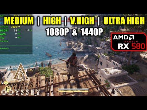 RX 580 | Assassin's Creed Odyssey - 1080p / 1440p - Medium, High, V.High, Ultra |