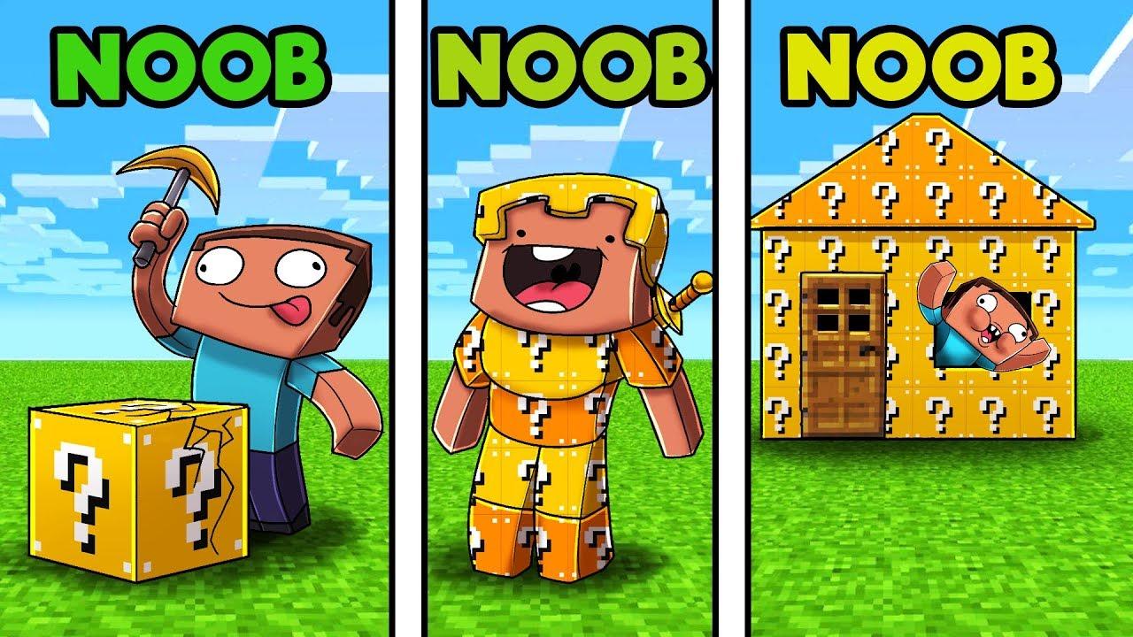 Minecraft - LUCKY BLOCK CHALLENGE! (NOOB vs NOOB vs NOOB ...