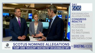 'Briefing Room': Kavanaugh allegations, Hurricane Florence latest, 50 days to midterms | ABC News