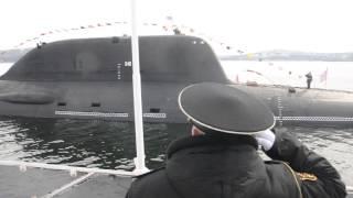 Репетиция военно-морского парада в Североморске. АПЛ