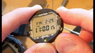 How to convert a G-Shock DW-5600E to a negative display