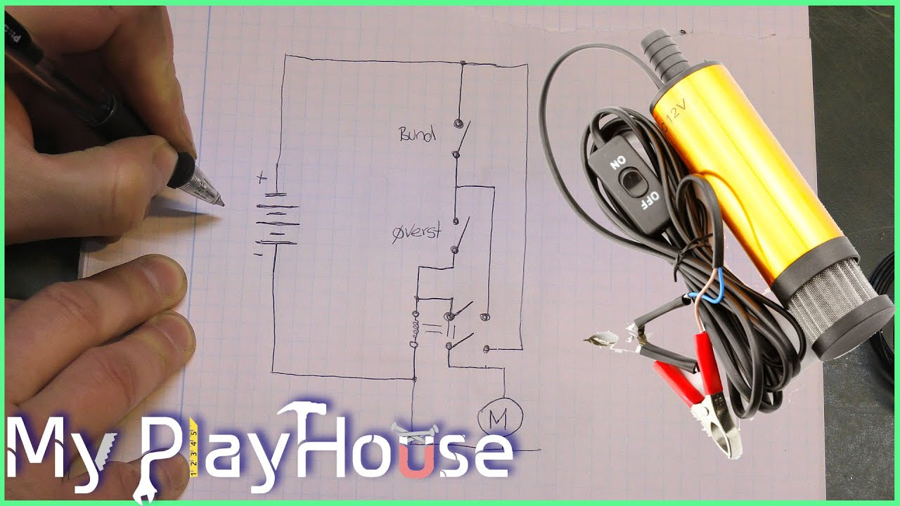 How to make a Holding Circuit, with just one Relay - 313 - YouTube | Holding With A Circuit Wiring Diagrams |  | YouTube