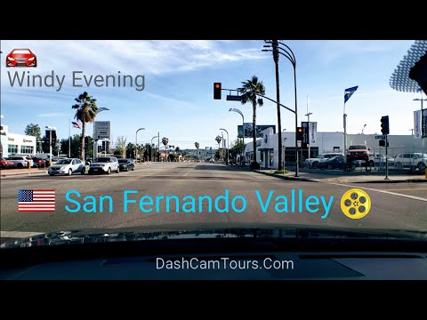 Dash Cam Tours - San Fernando Valley Evening Commute Hours