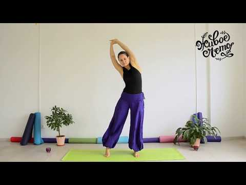 йога - урок 1.  для здоровья позвоночника