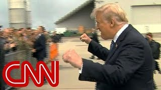 Trump fist pump before 9/11 service criticized