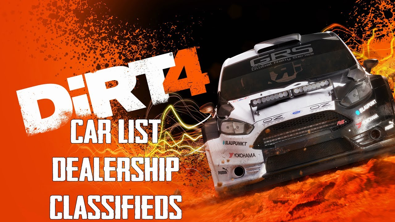 dirt 4 car list dealership classifieds youtube. Black Bedroom Furniture Sets. Home Design Ideas