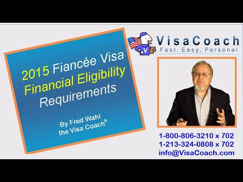 2015 K1 Fiance Visa Financial Eligibility Requirement