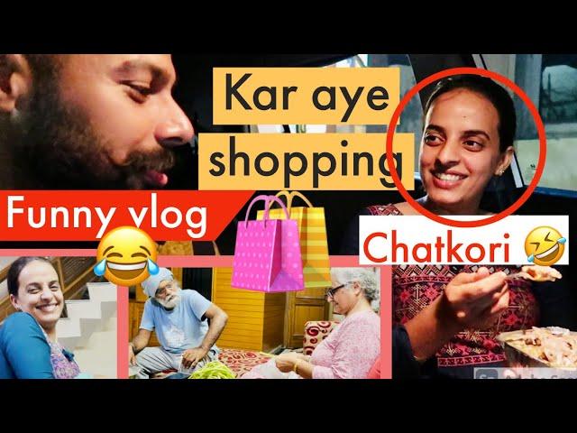 shopping ghat kri khayea jyada | Punjabi indian girls favourite street food vlog 😂