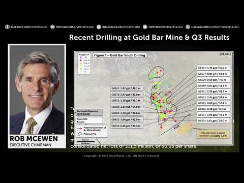 McEwen Mining: Recent Drilling At Gold Bar Mine & Q3 Results