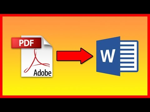 How To Convert PDF Into A DOC Word Document (No Software) - Tutorial
