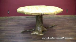 Aspen Lodge Log Octagon Dining Table From Logfurnitureplace.com